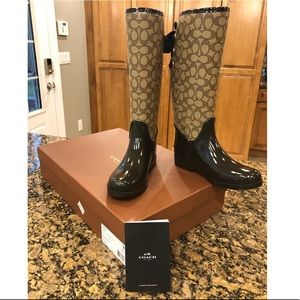 Coach Tristee Rain Boots Size 7